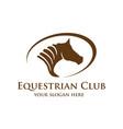 horse head logo vector image vector image