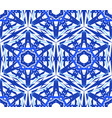 kaleidoscopic pattern blue star flower vector image vector image