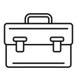 leather bag icon outline style vector image vector image