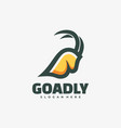 logo goat simple mascot style vector image