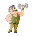 man lifting dumbbell vector image