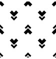 monochrome arrow pattern vector image vector image
