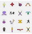 Ninja set icons vector image vector image