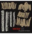 Pastel strokes set 5 vector image vector image