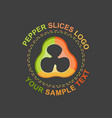 peppers slices logo vector image vector image