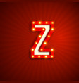 retro style letter z vector image