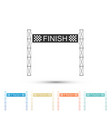 ribbon in finishing line symbol of finish line vector image vector image