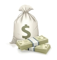 Sack and money vector