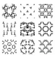 seamless abstract patterns set of monochrome vector image vector image