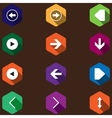 set icons with arrows flat design vector image vector image