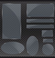 set of glass plates glass banners on a vector image vector image