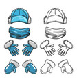 set of winter accessories vector image vector image