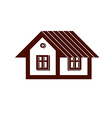 Simple mansion icon isolated on white background vector image vector image
