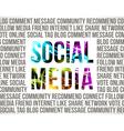 Social Media vector image vector image