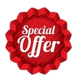 Special offer price tag Red round star sticker vector image vector image