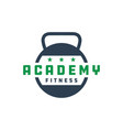 sports fitness education logo vector image vector image