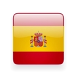 square icon with flag spain vector image vector image