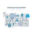 technology development start-up creative modern vector image
