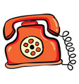 telephone hand drawn design on white background vector image