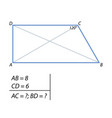 the task of finding the diagonals of the trapezium vector image vector image
