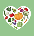 vegetables organic fresh ingredients vector image vector image