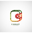 Wallet company logo business concept vector image