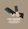 Foot Massage Relaxing vector image