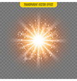 sun light lens flare glare template transparent vector image