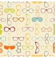 Colorful sunglasses and glasses seamless pattern vector image
