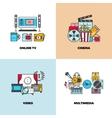 Entertainment cinema movie video concept vector image