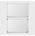 3d realistic blank magnetic whiteboard with vector image