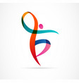 abstract human figure logo design gym fitness vector image