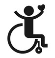 adult wheelchair icon simple style vector image