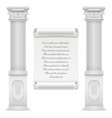 antique roman architecture design with marble vector image vector image