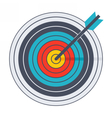 Arrow in archery target vector image