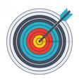 Arrow in archery target vector image vector image