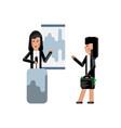 asian speaker doing business presentation vector image