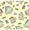 Birds and bird cages vector image vector image
