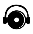 black dj disco and headphones graphic vector image vector image