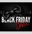 black friday sale discount fashion promo red bow vector image vector image
