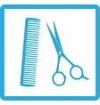 Blue sign of barbershop vector | Price: 1 Credit (USD $1)
