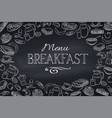 breakfast and brunch frame vector image vector image