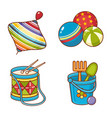 childrens toy ornament kid cute set vector image vector image
