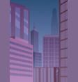 cityscape art deco purple vector image vector image
