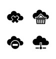computing cloud simple related icons vector image vector image