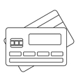 Credit card icon outline style vector image vector image