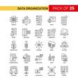 data organization black line icon - 25 business vector image