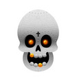 day of the dead mexican skull with gold teeth vector image