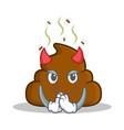 devil poop emoticon character cartoon vector image