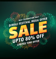 diwali sale banner poster with fireworks vector image vector image